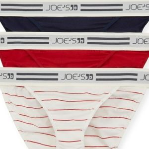 Joe's Jeans 3 Pack Logo Waist Bikini Briefs